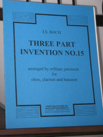 Bach J S - Three Part Invention No 15 arr Jamieson W